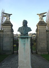 Bust Of Sir Jesse Boot (Lord Trent) At Entrance To Boating Lake