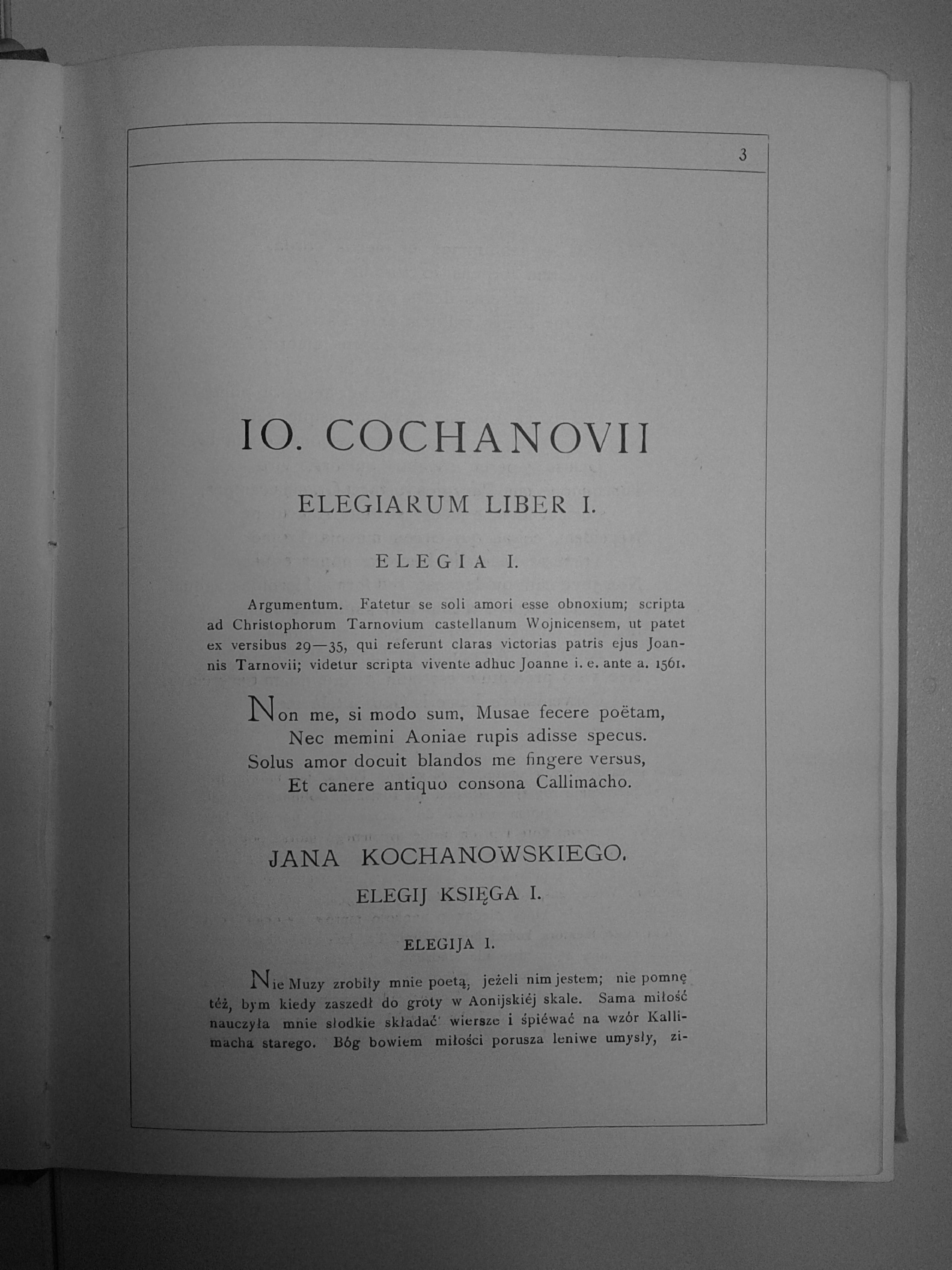 Filejoannis Cochanovii Tł Józef Przyborowski Carmina