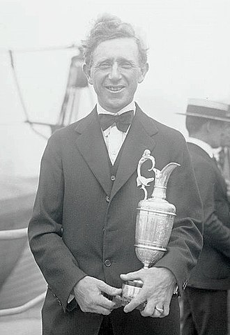 Jock Hutchison - Hutchison with The Open Championship trophy in 1921