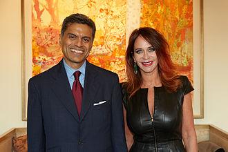 Jodi Shelton - Jodi Shelton and Fareed Zakaria attend GSA's 2014 US Executive Forum in Menlo Park, CA.