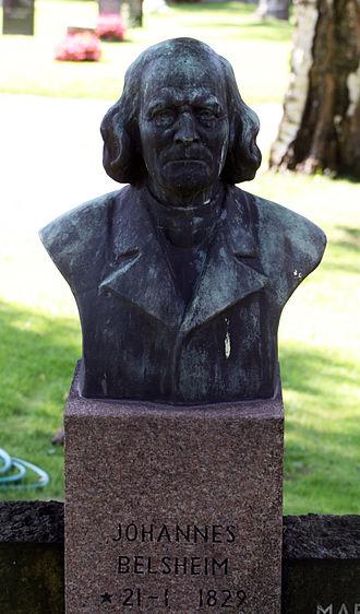 Johannes Belsheim - Johannes Belsheim monument at Vår Frelsers gravlund in Oslo