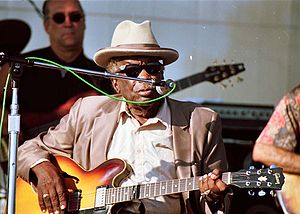 Long Beach Blues Festival - John Lee Hooker performing at the Long Beach Blues Festival, California, August 31, 1997