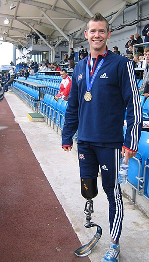 Great Britain at the 2008 Summer Paralympics - John McFall, bronze medallist in the men's 100 m T42