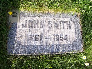 John Smith (uncle of Joseph Smith) - Image: John Smithb 1781Grave