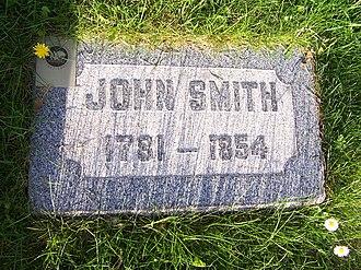 John Smith (uncle of Joseph Smith) - Image: John Smithb 1781Grave