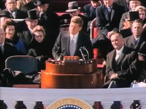 Archivo:John F. Kennedy Inauguration Speech.ogv