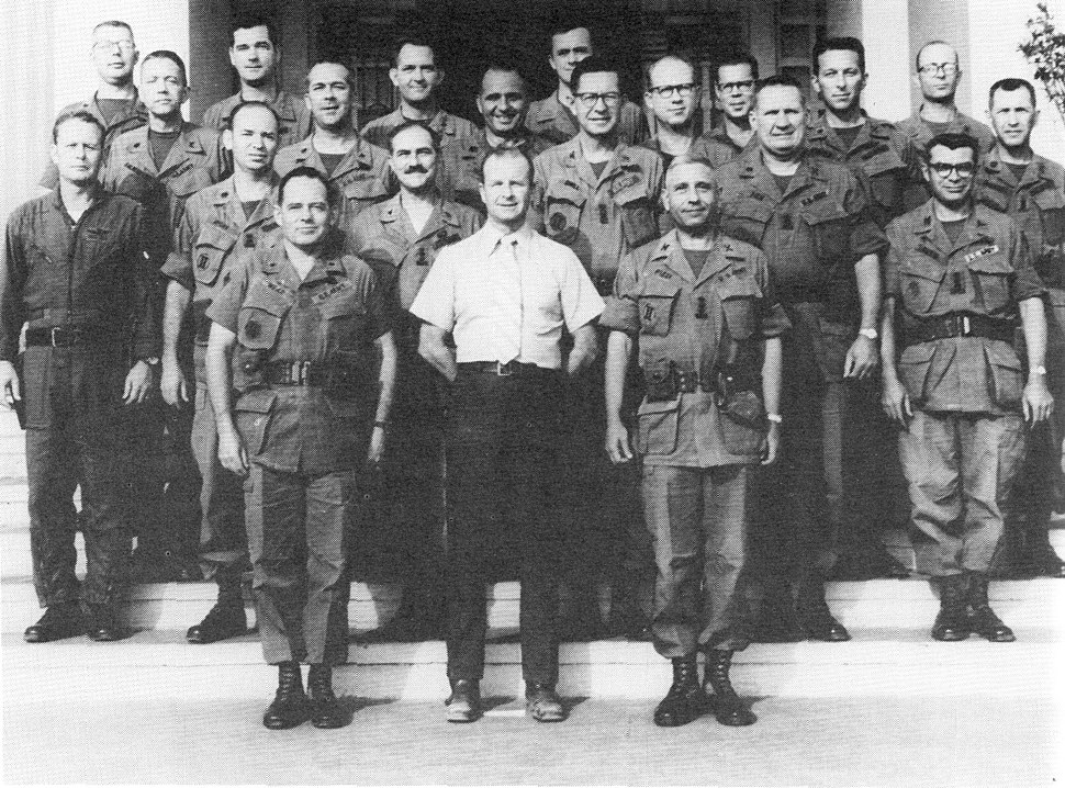 John Paul Vann and his staff at their Pleiku headquarters