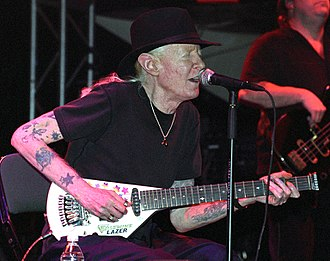 Electric blues - Johnny Winter in 2007.