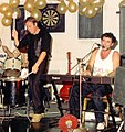 Jona Lewie on piano with Keef Trouble on percussion.jpg