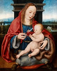 The Virgin with the Infant Christ Drinking Wine