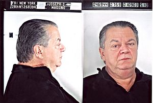 English: FBI mug shot of Joseph Massino