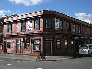Thames, New Zealand - Junction Hotel, one of the relatively numerous historic buildings remaining intact in Thames
