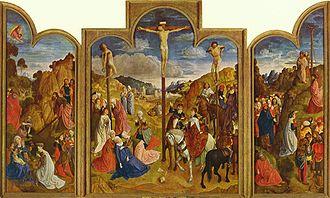 Justus van Gent - Calvary Triptych