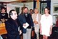 Křest knihy Opraváři pomatených duší v knihkupectví Academia 2005.jpg
