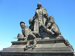 North Bridge, Edinburgh - K.O.S.B. Memorial by Birnie Rhind, North Bridge