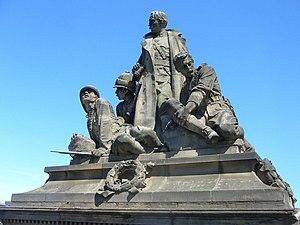 North Bridge, Edinburgh - K.O.S.B. Memorial by Birnie Rhind, North Bridge