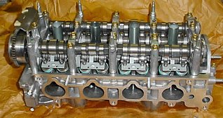 Variable valve timing process of altering the timing of a valve lift event