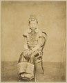 KITLV - 10434 - Lambert & Co., G.R. - Singapore - Dayak woman at Kuching in Sarawak - circa 1888.tif