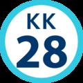 KK-28 station number.png