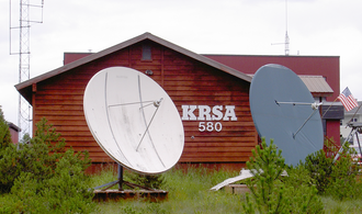 KRSA (defunct) - The KRSA studios located in Petersburg, Alaska, August 2011