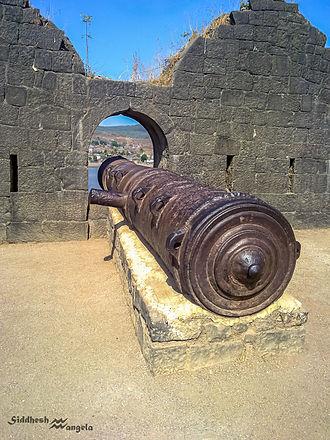 Murud-Janjira - Kalak Bangadi, 3rd Largest Cannon in India At Janjira Fort, weighing over 22 Tons