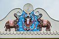 Kali - North Railing Mural - Ramakrishna Mandir - Jadu Nath Hati Smasana Complex - Sankrail - Howrah - 2013-08-11 1433.JPG