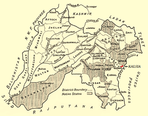 Kalsia - Kalsia in a 1911 map of Punjab