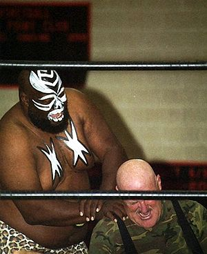 Sgt. Slaughter - Slaughter in a match against Kamala
