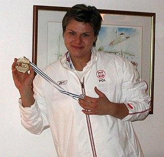 1999 World Youth Championships in Athletics - Kamila Skolimowska won the hammer throw gold for the host nation.