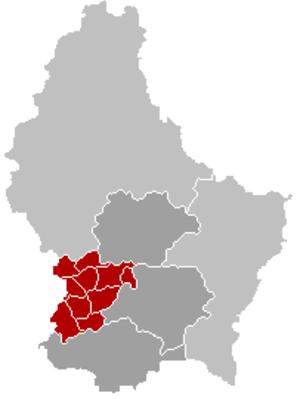 Capellen (canton) - Image: Kanton Capellen Locatie