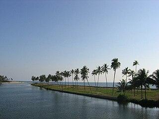 Edava Town in Kerala, India