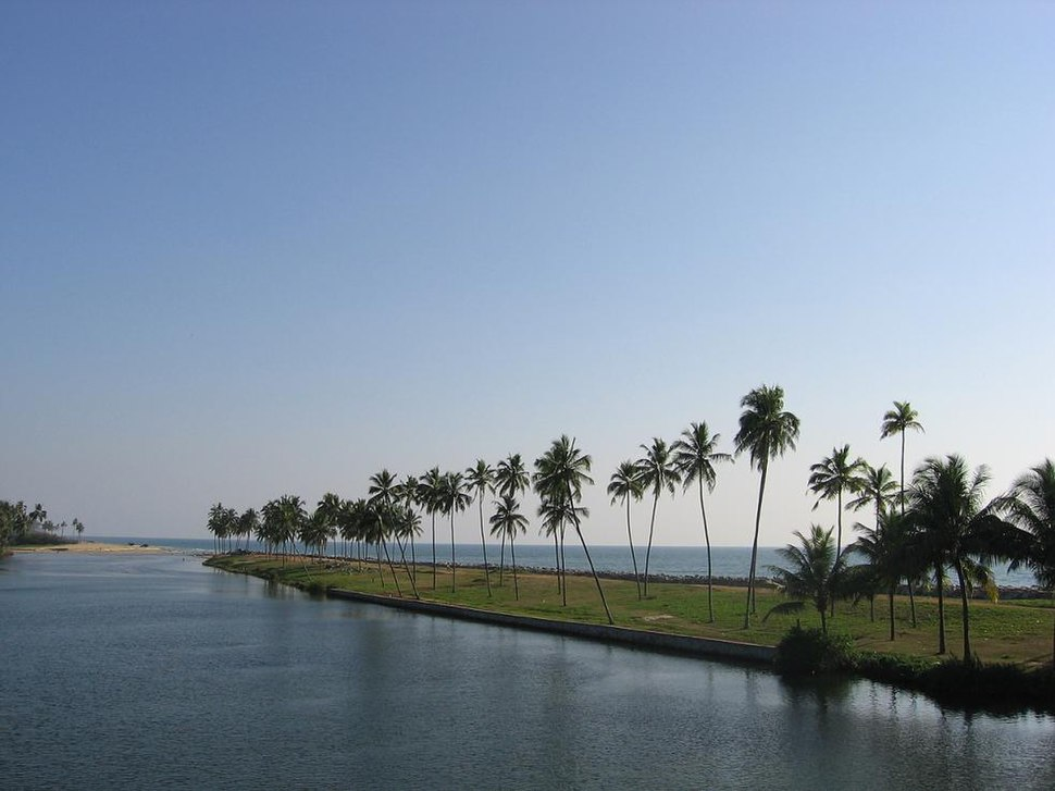 Kappil beach and backwaters in Edava