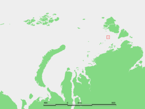 Voronina Island - Location of Voronina in the Kara Sea.