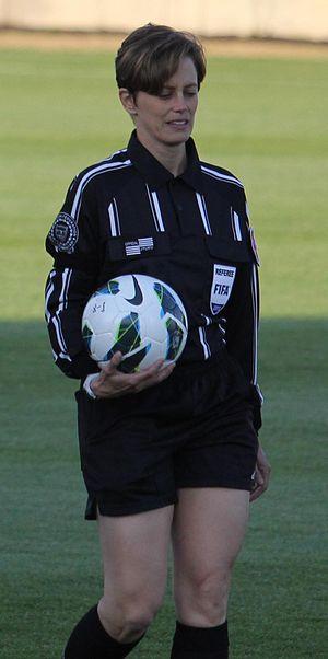 Kari Seitz - Kari Seitz before an NWSL game (2013)