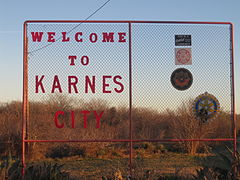 Karnes City, TX, welcome sign IMG 2719.JPG