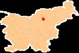 Map of Slovenia, position of Velenje highlighted
