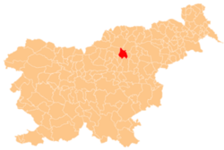 Vị trí khu tự quản Velenje trong Slovenia