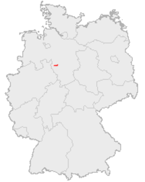 Bückeberg - Image: Kartevom Bückeberg