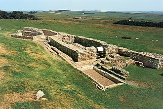 Housesteads Roman Fort - The latrines of Housesteads Roman Fort along Hadrian's Wall