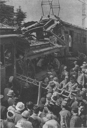 Kawachi-Hanazono Station - 1948 train collision accident.