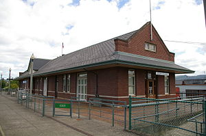 Kelso Multimodal Transportation Center - View of the station from the platform