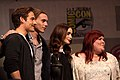 Kevin Zegers, Jamie Campbell Bower, Lily Collins and Cassandra Clare by Gage Skidmore.jpg