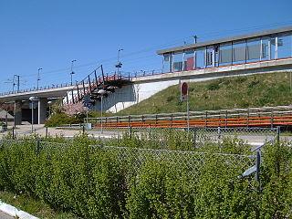 railway station in Ballerup Municipality, Denmark