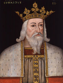 Early modern half-figure portrait of Edward III in his royal garb.