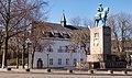 Kleve, ruiterstandbeeld van Friedrich Wilhelm in straatzicht IMG 4043 2020-04-05 12.37.jpg