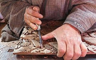Kashmiri handicrafts Hand knotted mat