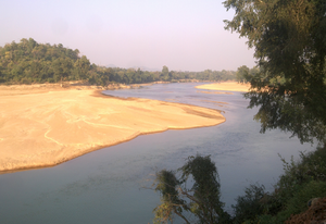 Brahmani River - South Koel river near Jaraikela, Orissa. One of the two tributaries of Brahmani River