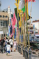 Korea-Tongyeong-Flags near the Turtle ship replica-02.jpg