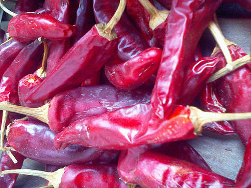 Korean chili pepper drying