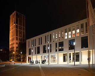 Kornwestheim 2016 Rathausturm Das K WikiCon 03.jpg